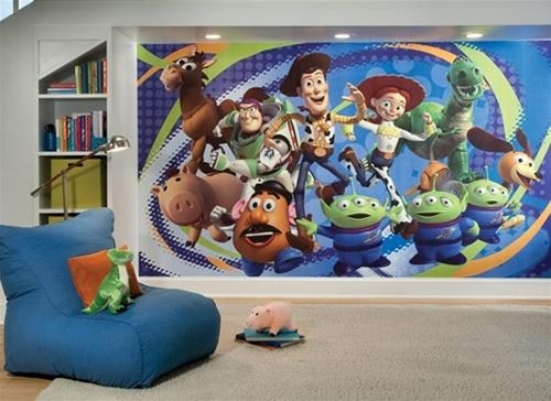Toy Story 3 Pre Pasted Wall Murals – Huge Realistic Wall Decor Of Throughout Toy Story Wall Stickers (Image 9 of 20)