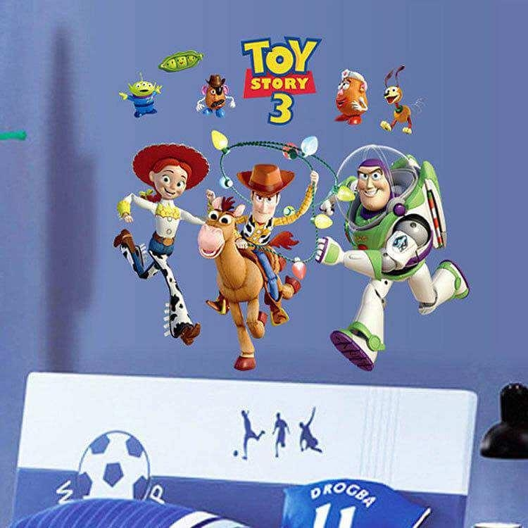 Toy Story 3 Wall Sticker Art Decals For Kids | Boys Room Regarding Toy Story Wall Stickers (Image 11 of 20)