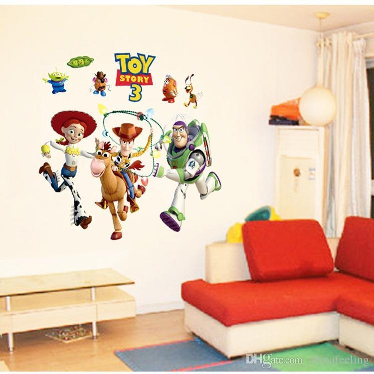 Toy Story Cartoon Movie Wall Sticker Hot Cartoon Wall Decals With Regard To Toy Story Wall Stickers (Image 16 of 20)