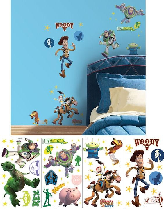 Toy Story Glow In The Dark Applique Wall Stickers With Toy Story Wall Stickers (Image 17 of 20)