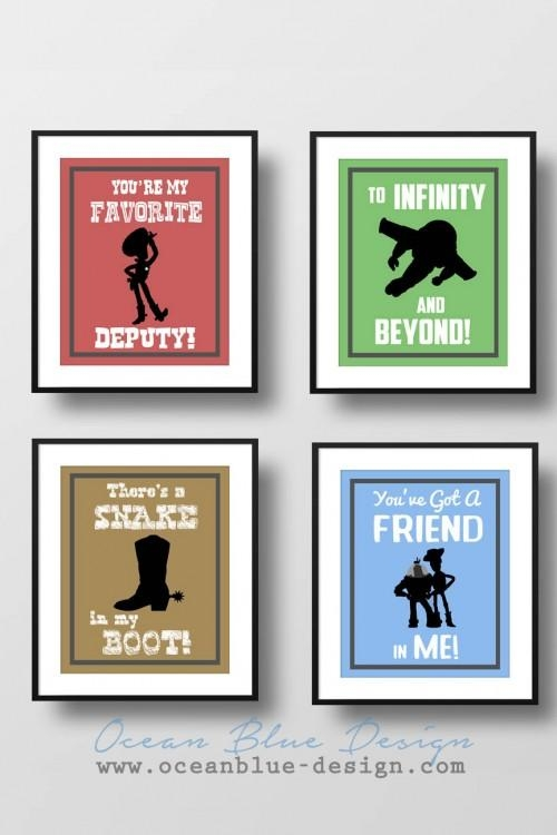 Toy Story Prints – Set Of 4 – 8″x10″ Prints Child's Room Or Within Toy Story Wall Art (View 2 of 20)