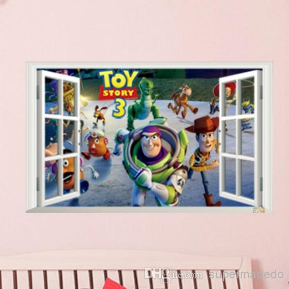 Toy Story Wall Stickers Fake Window Movie Poster For Children Room Pertaining To Toy Story Wall Stickers (Image 19 of 20)