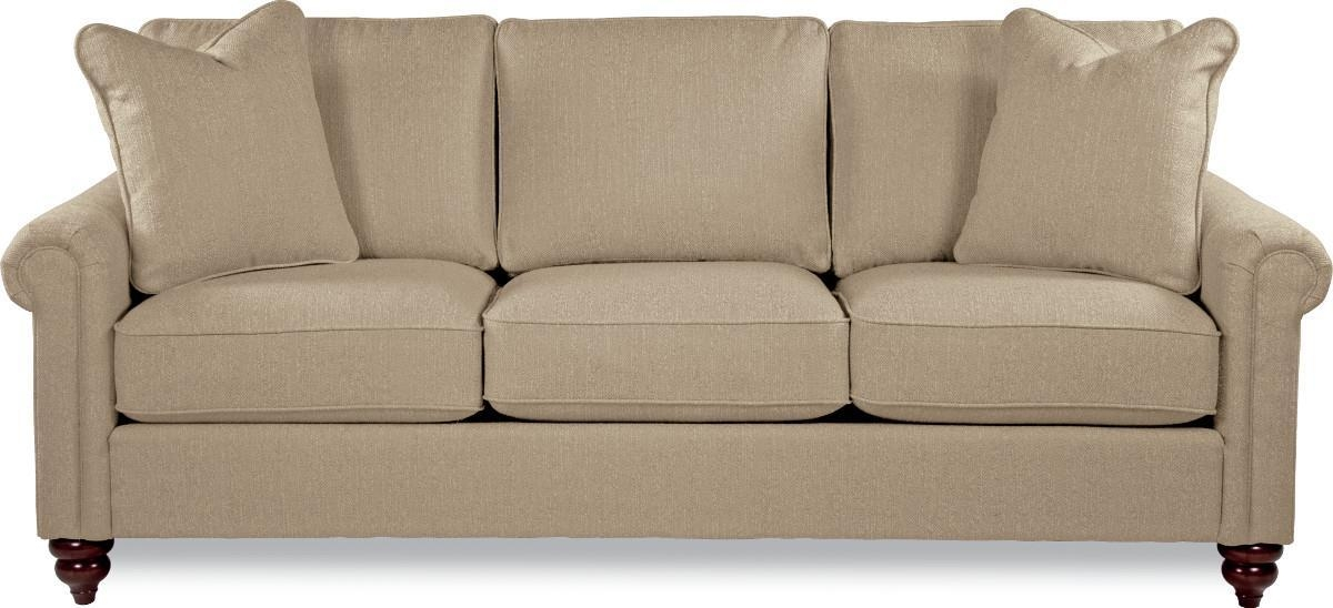 Traditional Rolled Arm Sofa With Premier Comfort Core Cushions Pertaining To Lazy Boy Sofas (Image 20 of 20)