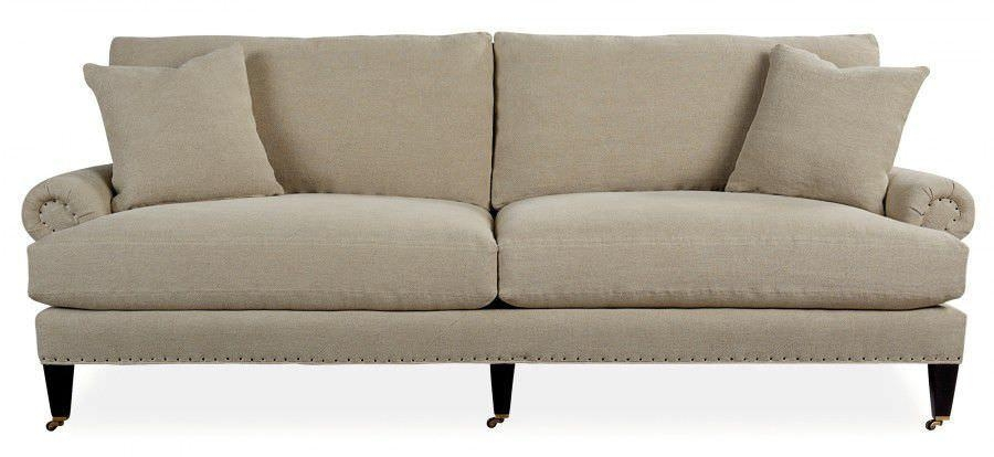 Traditional Sofa / Fabric / 3 Seater / On Casters – Newton Within Casters Sofas (Image 20 of 20)