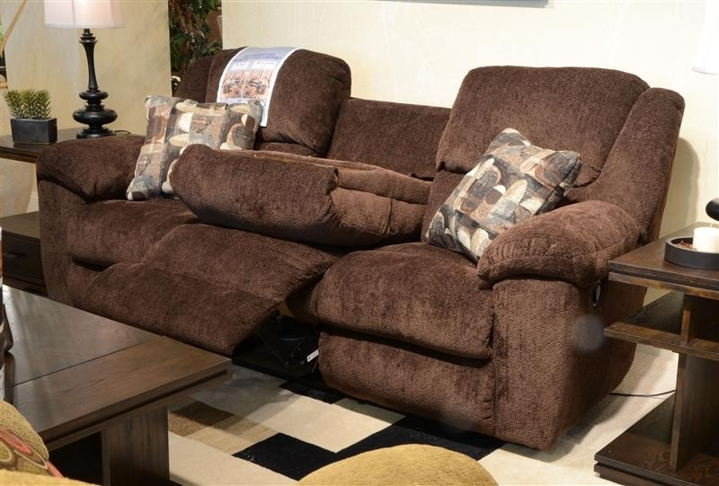 Transformer Ultimate Reclining Sofa In Chocolate Fabric In Catnapper Sofas (Image 19 of 20)
