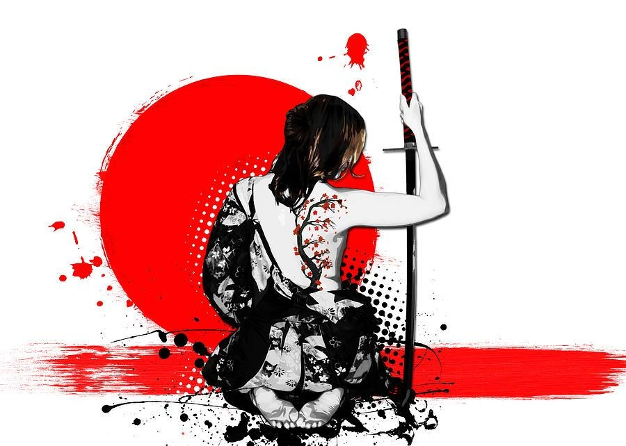 Trash Polka – Female Samurai Digital Artnicklas Gustafsson With Regard To Samurai Wall Art (Image 19 of 20)
