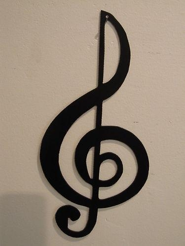 Treble Clef Musical Note Metal Wall Art Inside Music Metal Wall Art (Image 17 of 20)