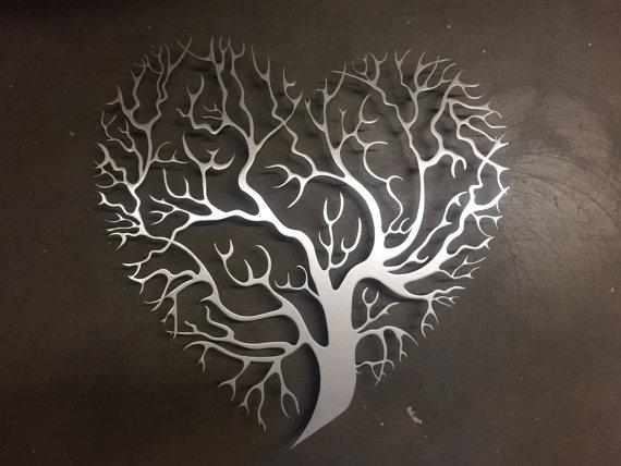 Tree Heart Metal Wall Art Tree Metal Wall Art Unique Wall With Regard To Metal Wall Art (Image 20 of 20)