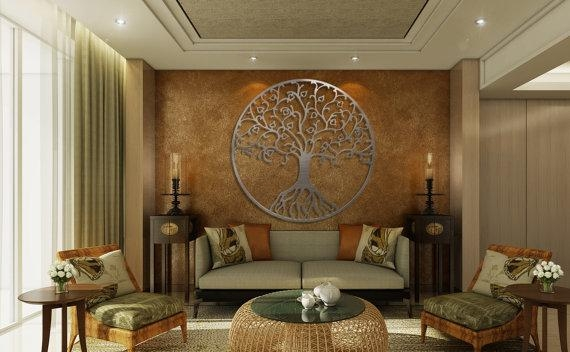 Tree Of Life Metal Wall Art Metal Tree Wall Art Circle Wall With Regard To Tree Wall Art Sculpture (View 9 of 20)