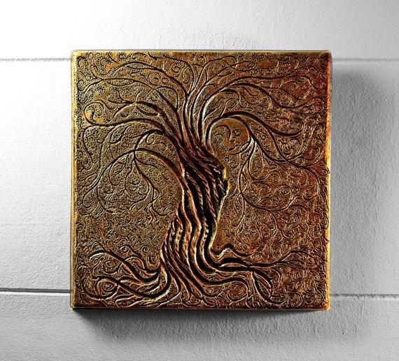 Tree Of Life Wall Art Sculpture Rustic Gift Bronze Tree With Regard To Bronze Tree Wall Art (View 14 of 20)