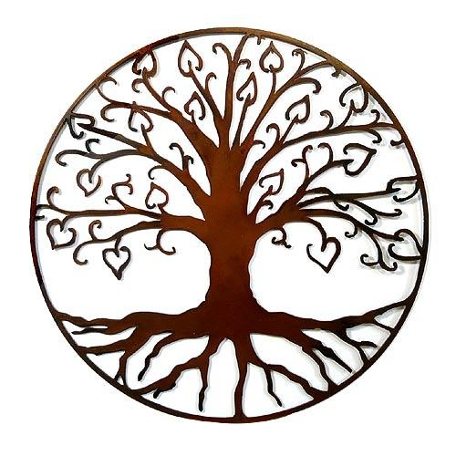 Tree Of Life With Hearts Outdoor Wall Art Inside Copper Outdoor Wall Art (View 6 of 20)