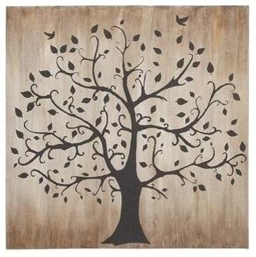 Tree Themed Classy Canvas Wall Art – Contemporary – Prints And Within Classy Wall Art (View 1 of 20)