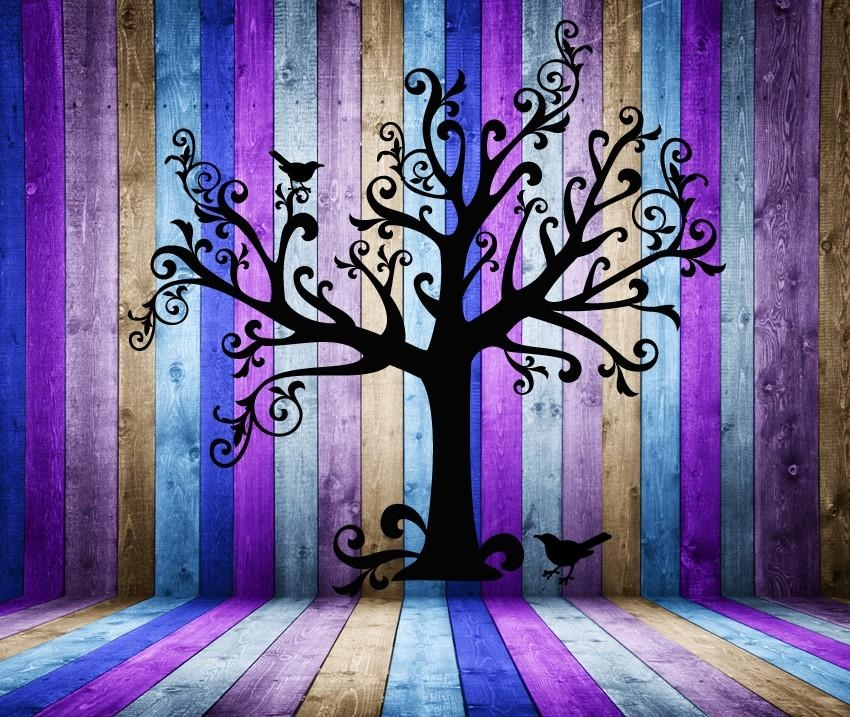 Tree Wall Decal Tree Decal Whimsical Art Whimsical Decor Intended For Tim Burton Wall Decals (Image 17 of 20)