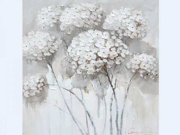 Trees In Bloom Wall Art Neutral Tone Oil Painting With Neutral Wall Art (Image 17 of 20)