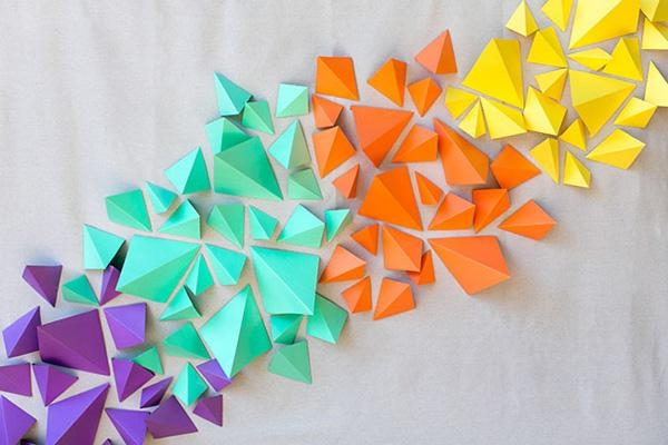 Trendy Wall Art That Jumps Out At You, Literally For 3D Paper Wall Art (View 12 of 20)