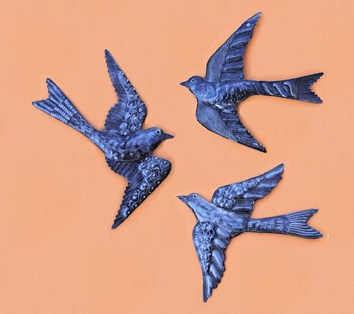 Trio Of Birds – Haitian Metal Art Sculpture Recycled Steel Drum With Regard To Flock Of Birds Metal Wall Art (View 8 of 20)
