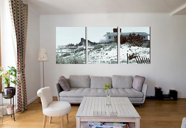 Triptyque Photos Hamptons In Large Wall Art Print – Contemporary For Large Contemporary Wall Art (View 18 of 20)