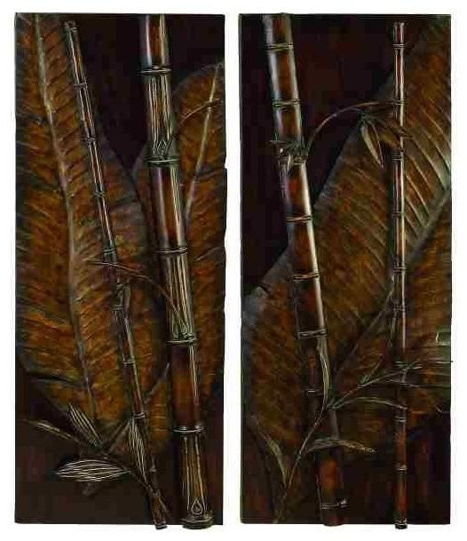 Tropical Metal Wall Art, Set Of 2 – Asian – Metal Wall Art – Regarding Asian Metal Wall Art (Image 18 of 20)