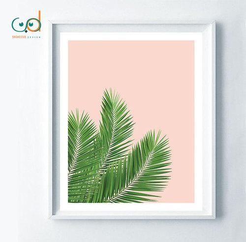 Tropical Print, Palm Leaf Digital, Woman Gift Palm, Home Decor Pertaining To Palm Leaf Wall Art (View 1 of 20)
