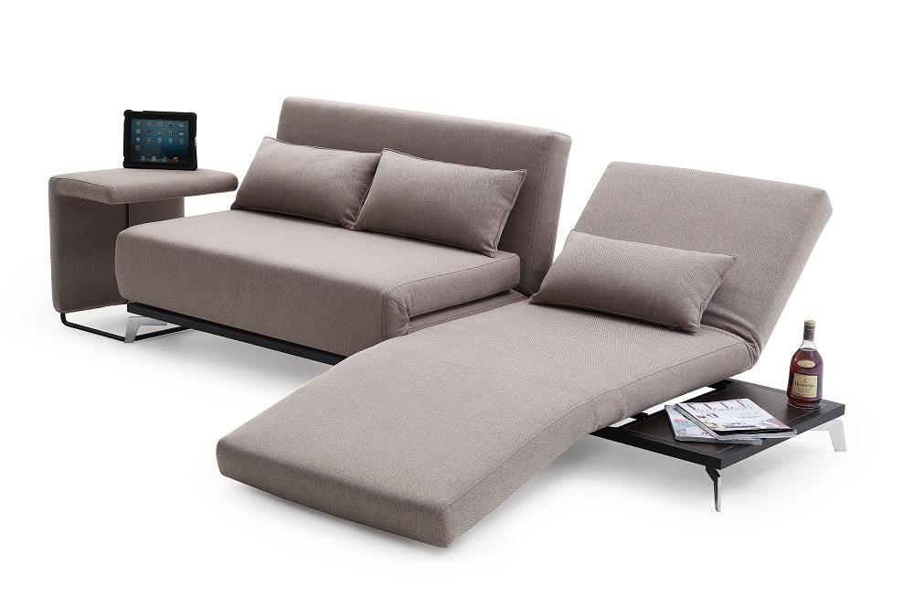 Truly Functional Fabric Convertible Pull Out Sofa Bed With Lounge Pertaining To Euro Sofa Beds (Image 20 of 20)