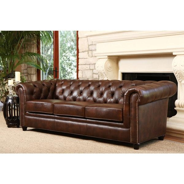Tufted Brown Leather Sofa Regarding Brown Tufted Sofas (View 17 of 20)