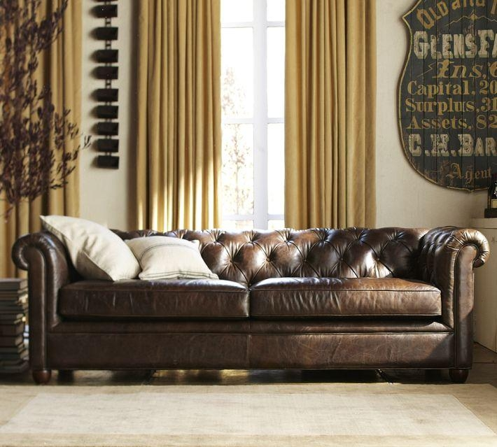 Tufted Brown Leather Sofa | Sanblasferry With Brown Tufted Sofas (View 12 of 20)