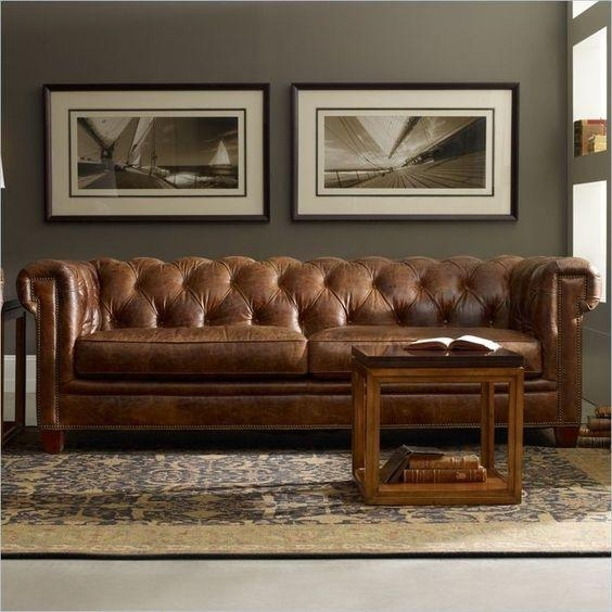 Tufted Brown Leather Sofa – Tufted Leather Sofa Calgary, Tufted With Brown Leather Tufted Sofas (Image 18 of 20)
