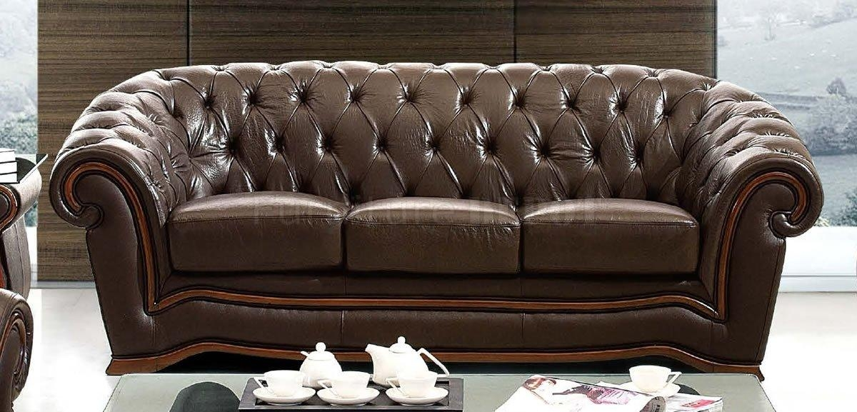 Tufted Leather Sofa Pertaining To Brown Tufted Sofas (View 19 of 20)