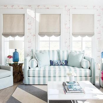 Turquoise Blue Striped Sofas With Pink Buffalo Check Throw Blanket Regarding Buffalo Check Sofas (View 7 of 20)