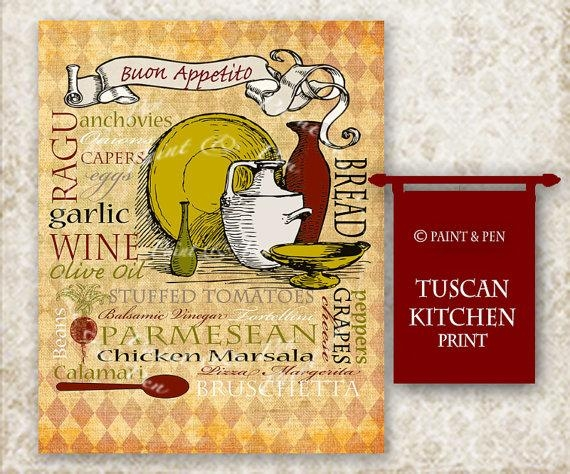 Tuscan Kitchen Decor Tuscan Wall Art Italian Kitchen Sign Within Italian Wall Art Decor (Image 15 of 20)