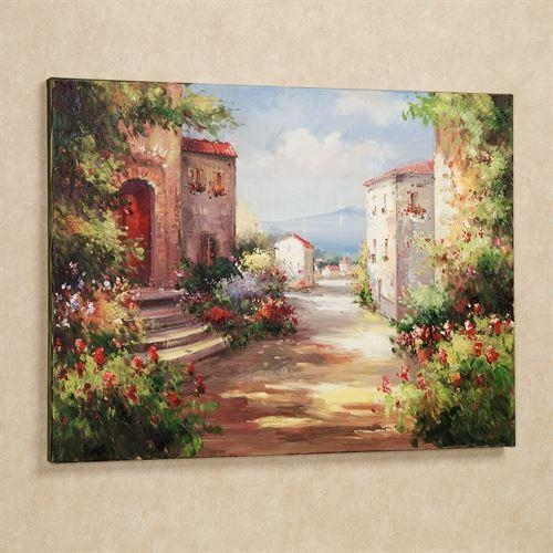 Tuscan Summer Handpainted Canvas Art Pertaining To Tuscany Wall Art (Image 12 of 20)