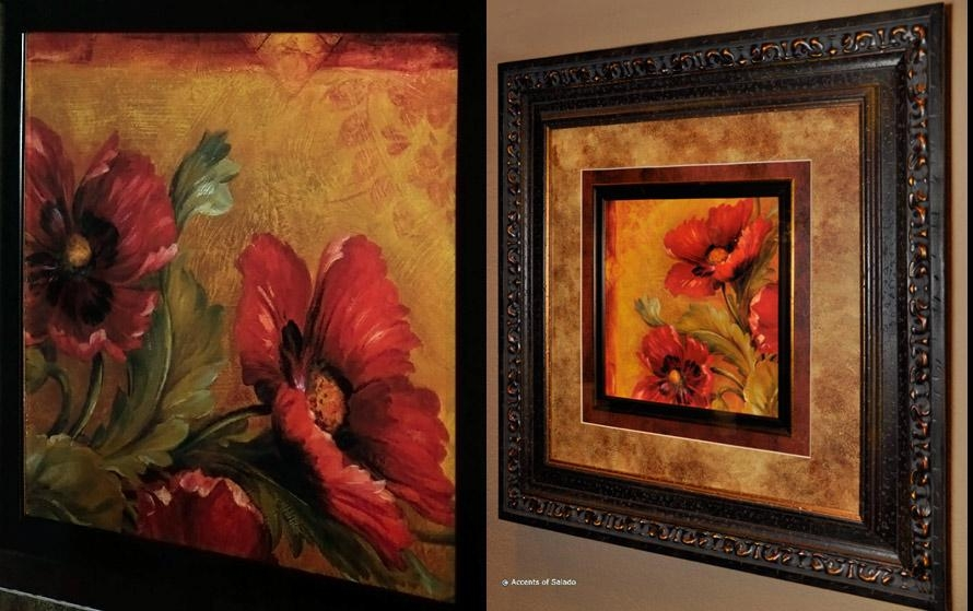 Tuscan Wall Art Wild Beauties With Regard To Brown Framed Wall Art (Image 16 of 20)