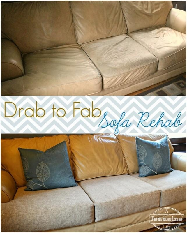 Tutorial: Diy Upholstery Sofa Rehab – A Jennuine Life With Reupholster Sofas Cushions (Photo 7 of 20)