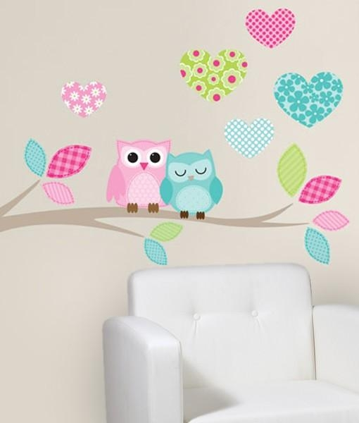 Twiggy Wall Art Vinyl – Girlie Owl Branch Within Twiggy Vinyl Wall Art (View 7 of 20)