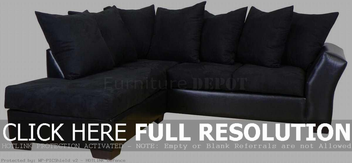 Unique Black Sectional Sofas Sofa Pit In Inspiration Inside Small Black Sofas (Image 20 of : small black sectional sofa - Sectionals, Sofas & Couches