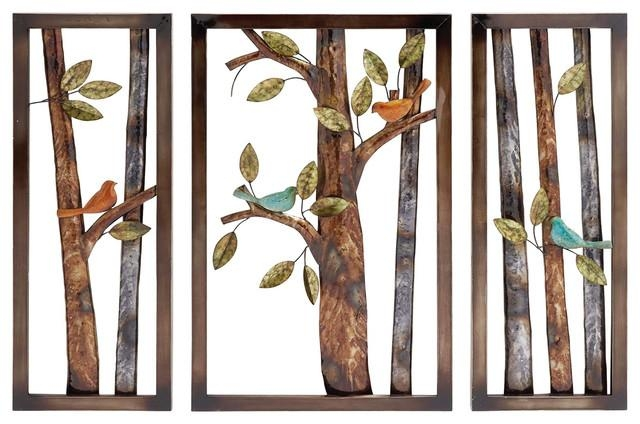 Urban Designs Morning Birds Botanical Handcrafted Metal Wall Decor Intended For Botanical Metal Wall Art (View 3 of 20)