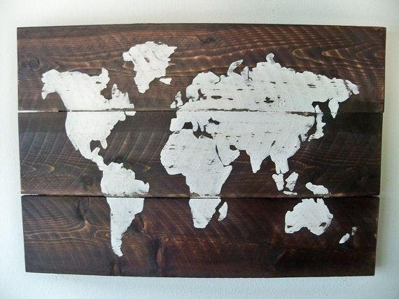 Us Map Wall Art – Globalinter.co Pertaining To World Map Wood Wall Art (Photo 5 of 20)
