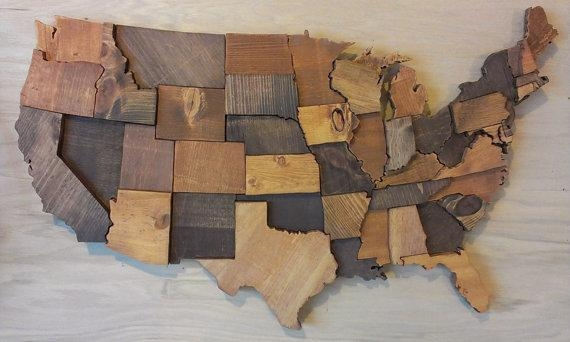 Us Map Wall Art | My Blog Pertaining To Us Map Wall Art (Photo 2 of 20)