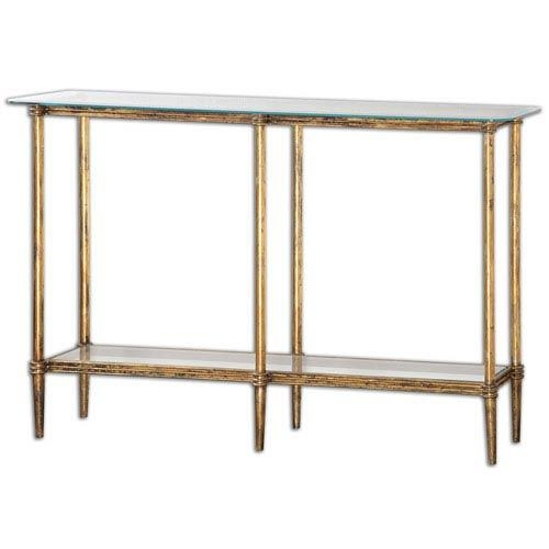 Uttermost Elenio Bright Gold Console Table On Sale Within Gold Sofa Tables (View 5 of 20)