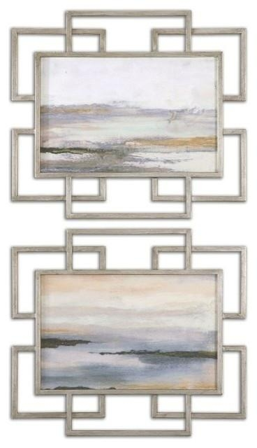 Uttermost Harmony Metal Wall Art, S/2 – Contemporary – Wall Inside Uttermost Metal Wall Art (Photo 5 of 20)