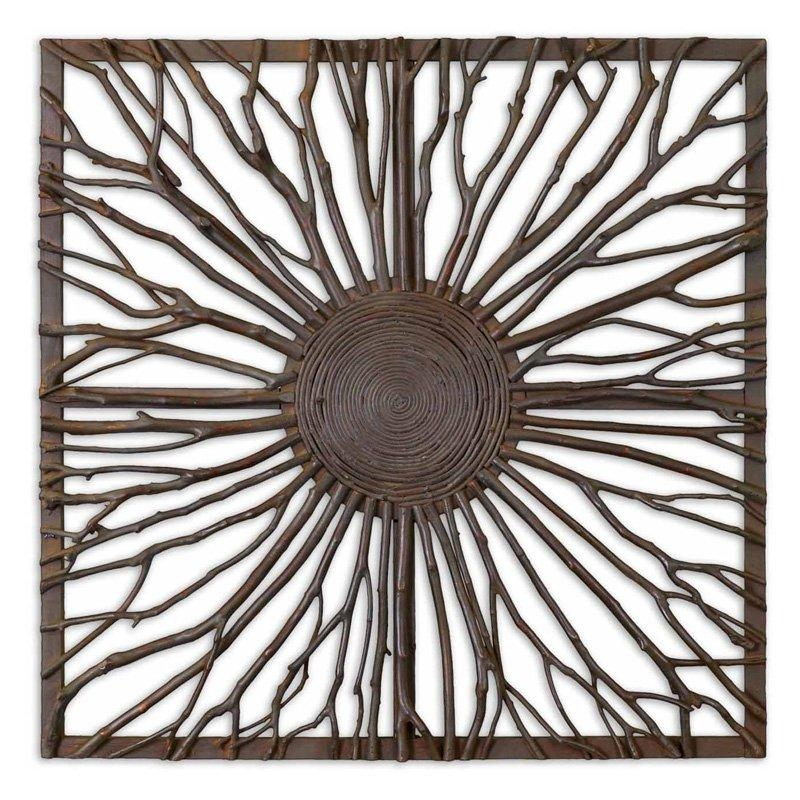 Uttermost Josiah Square Wood Wall Art | Hayneedle With Uttermost Metal Wall Art (Image 13 of 20)