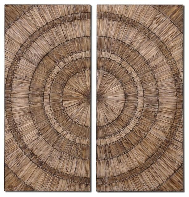 Uttermost Lanciano Wood Wall Art Panels, Set Of 2 – Rustic – Wall For Wooden Wall Art Panels (Photo 17 of 20)