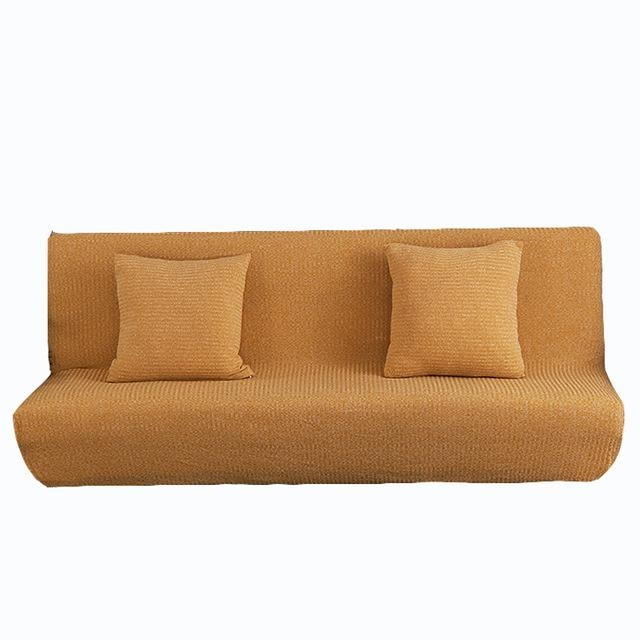 Uuiversal Stretch Sofa Bed Covers For Living Room Armless Couch Within Armless Sofa Slipcovers (View 17 of 20)