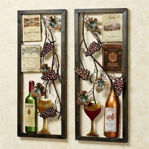 Valley Vineyard Metal Wall Art Set Regarding Wine Metal Wall Art (Photo 5 of 20)
