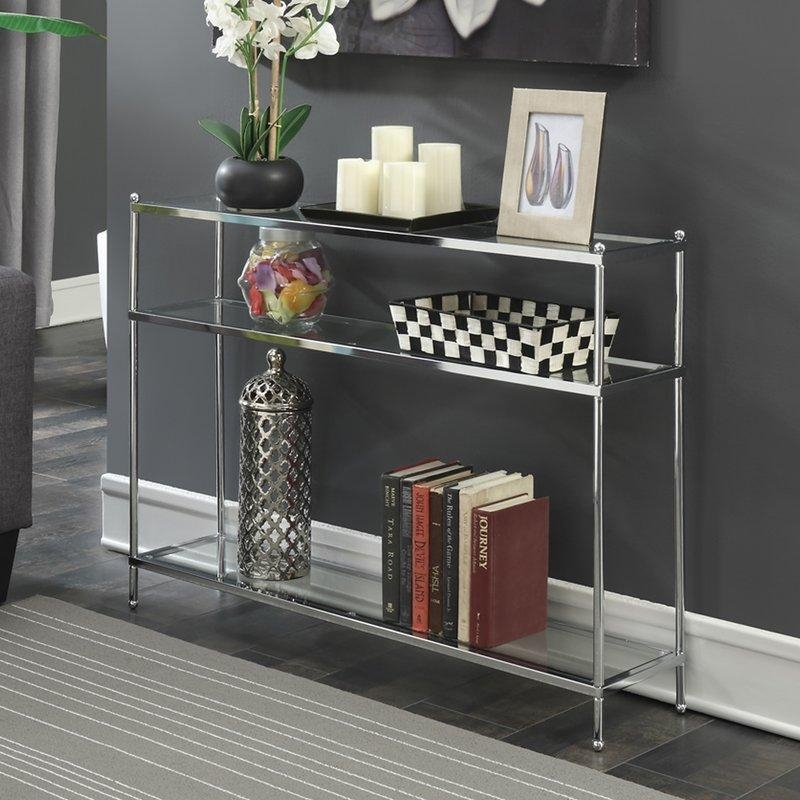 Varick Gallery Boehm Console Table & Reviews | Wayfair In Chrome Sofa Tables (Image 20 of 20)