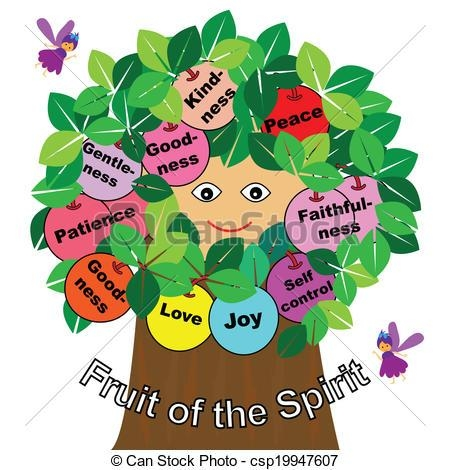 Vector Clipart Of Fruits Of The Spirit – Word Fruits Of The Spirit Inside Fruit Of The Spirit Artwork (View 16 of 20)