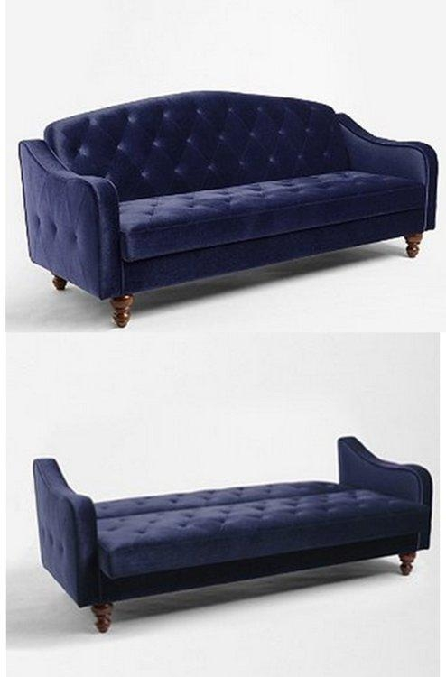 Velvet Tufted Sleeper Sofa – Ansugallery Inside Tufted Sleeper Sofas (Image 18 of 20)
