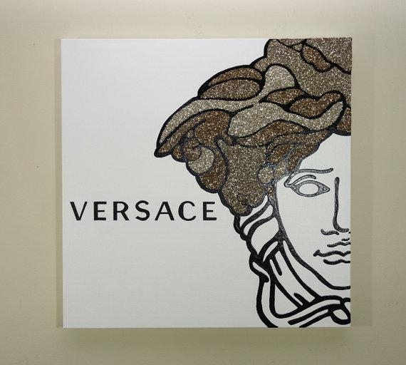 Versace Medusa Painting 24X24 Versace Inspired Pop Art Throughout Versace Wall Art (Image 12 of 20)