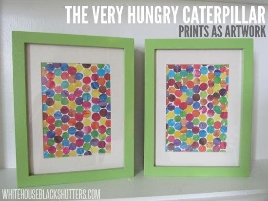 Very Hungry Caterpillar Upcycled Wall Art – White House Black Shutters With Regard To The Very Hungry Caterpillar Wall Art (View 3 of 20)