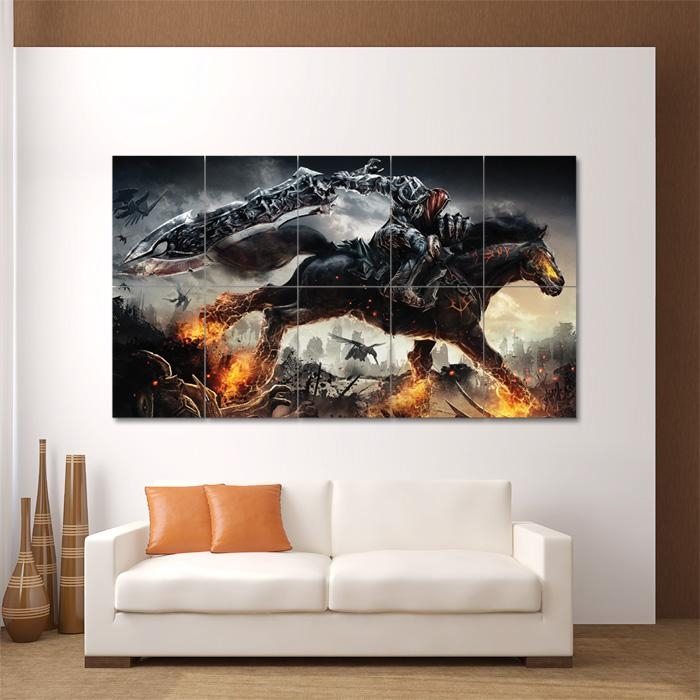 Video Game Block Giant Wall Art Poster Intended For Video Game Wall Art (Image 14 of 20)